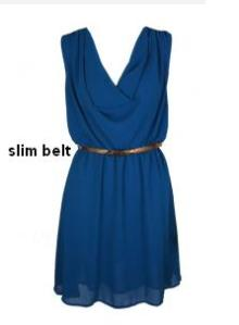 free flowing dress with slim belt