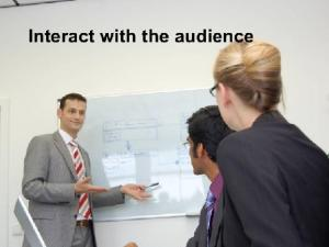 interact with audience