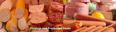 hotdogs and processed meats