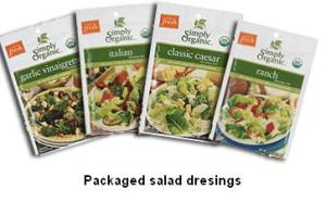 packaged salad dressings