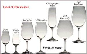types of wine glasses