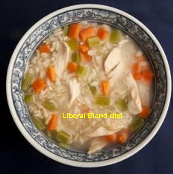 Liberal Bland Diet . This diet is indicated for any medical