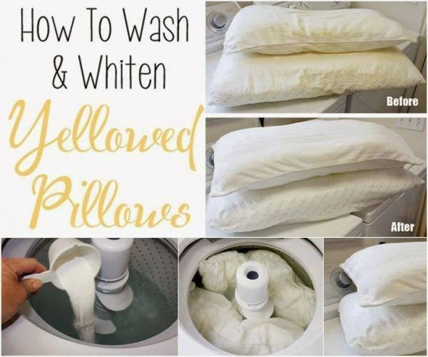 whiten pillows
